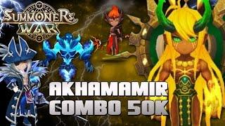 Akhamamir Combo 50K de Dano! Feat. Galleon , Barreta e Purian ! Arena Summoners War