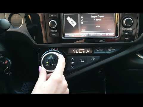 Toyota Prius С (2015) - удобная и комфортная работа климат-контроля