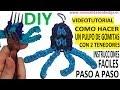 COMO HACER UN PULPO DE GOMITAS CON DOS TENEDORES (OCTOPUS CHARM) FIGURA VIDEO TUTORIAL