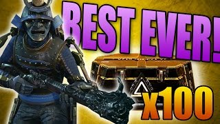 BEST OPENING EVER: Back to Back Legendary Weapons! (100x Advanced Warfare Supply Drops)
