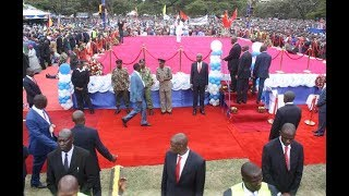 Most guarded preacher? Prophet Owuor's bodyguards in action