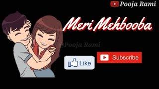Meri Mehbooba   Sid Mr Rapper || Whatsapp Video Status Song With Lyrics ||