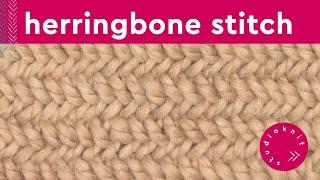 How to Knit the HERRINGBONE STITCH
