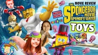 getlinkyoutube.com-Sky Kids build Toys R Us Exclusive Spongebob Mega Bloks Figures + Sponge Out of Water Movie Review