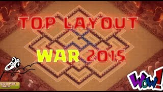 getlinkyoutube.com-TOP LAYOUT ! TH10 WAR 2015 - CLASH OF CLANS