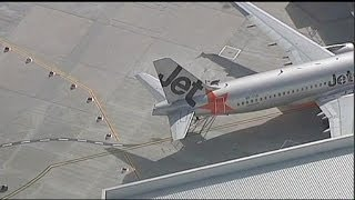 getlinkyoutube.com-برخورد دو هواپیما مسافربری در فرودگاه ملبورن