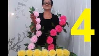 getlinkyoutube.com-Aula 4 - Como fazer Arranjo com Flores de papel crepom parte 2 - Artesanato