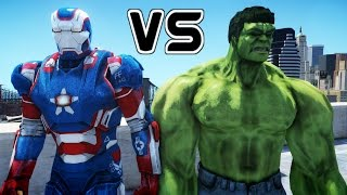 getlinkyoutube.com-IRON PATRIOT VS HULK - EPIC BATTLE