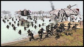 getlinkyoutube.com-Amphibious Clone Assault - Battle of Kashyyyk | Men of War Assault Squad 2 Star Wars Mod Gameplay