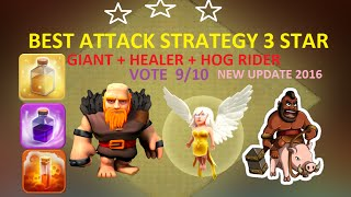 getlinkyoutube.com-Clash Of Clans - Th9 [3 Star] Attack Strategy Giant + Healer And Hog New Update 2016