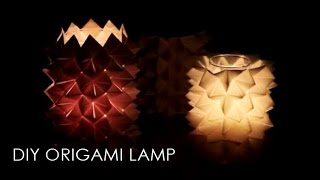 getlinkyoutube.com-DIY Origami Lampe