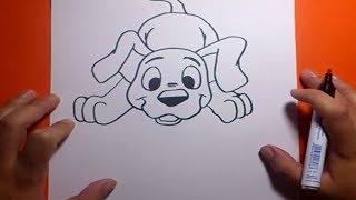 getlinkyoutube.com-Como dibujar un perro paso a paso 18 | How to draw a dog 18