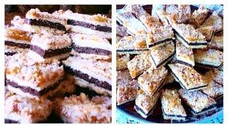 getlinkyoutube.com-حلوى طبقات جوز الهند  (الكوكو)، الكاكاو و الفول السوداني(الكوكاو) الرائعة  آللذيذة حلويات سهلة