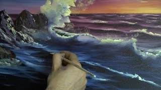 getlinkyoutube.com-Sunset Sea - Painting Lesson