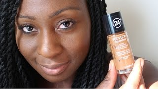 getlinkyoutube.com-Revlon Colorstay Foundation | Review & Demo for Oily Skin