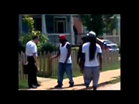 White Man Walks Dwn Wrong Hood Picks Up Drug Dealers Drugs