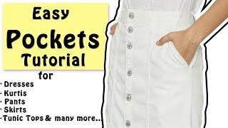 DIY Easy Pockets Tutorial | Slash Pocket Cutting & Stitching
