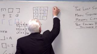 """getlinkyoutube.com-""""The Lost Symbol"""" - Magic Squares and the Masonic Cipher"""
