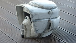 getlinkyoutube.com-Star Wars, making Biker Scout Trooper Helmet, selber bauen, pepakura / pepacraft, 66target