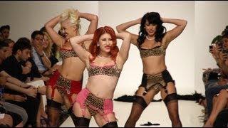 getlinkyoutube.com-Lingerie Fashion Show Evokes The 1950's With Sexy Apparel