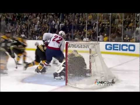 Joel Ward OT game winner goal. Handshakes. Washington Capitals vs Boston Bruins  4/25/12 NHL Hockey