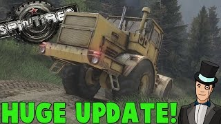 getlinkyoutube.com-Spintires October Update - NEW TRUCKS AND MORE! Spin Tires Gameplay