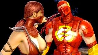 getlinkyoutube.com-Mortal Kombat 9 - All Fatalities & X-Rays on The Flash Costume Skin Mod 4K Ultra HD Gameplay Mods