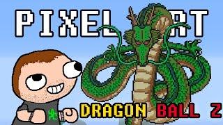 getlinkyoutube.com-Minecraft - Pixel Art - Dragon Ball Z - Shenron