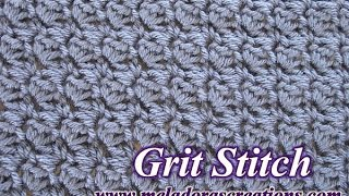 getlinkyoutube.com-The Grit Stitch - Crochet Tutorial