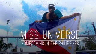 getlinkyoutube.com-UNIVERSAL TRAVELS: Miss Universe 2015 returns to the Philippines after crowning