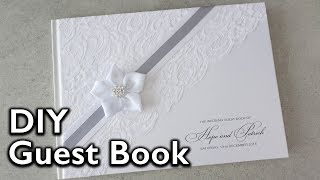 How To Make An Elegant Lace And Satin Ribbon Flower Guest Book | DIY Wedding Invitations