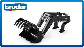 getlinkyoutube.com-Bruder Toys Front Loader for 03000 Tractor Series #03333