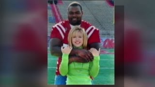 Leigh Ann Touhy and Michael Oher Celebrate Super Bowl Victory