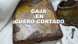 getlinkyoutube.com-DIY CAJA IMITACION  DE CUERO CORTADO(en cartapesta)