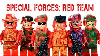 getlinkyoutube.com-LEGO Call of Duty: U.S. Marine Special Forces Red Team KnockOff Minifigures (LELE)