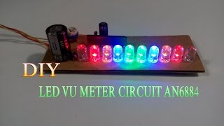 getlinkyoutube.com-How To Make Led Vu Meter Circuit AN6884 Simple