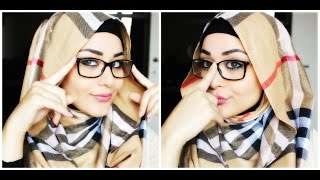 getlinkyoutube.com-Tutoriel Hijab avec lunettes - Hijab with glasses Tutorial