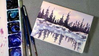 getlinkyoutube.com-winter pond watercolor tutorial