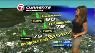 getlinkyoutube.com-WSVN-TV 7NEWS Julie Durda hottest Weather girl ever 7/18/2011