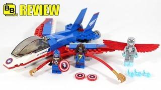 getlinkyoutube.com-LEGO MARVEL CAPTAIN AMERICA JET PURSUIT 76076 SET REVIEW