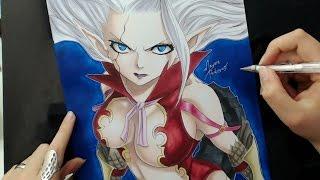 getlinkyoutube.com-Speed Drawing - Mirajane Strauss Satan Soul (Fairy Tail)