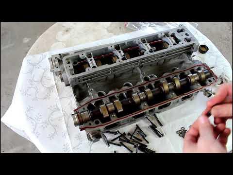 Обрыв ремня ГРМ загнуло клапана сборка головки 3часть Peugeot 407 1,8 Пежо 407 2005 года