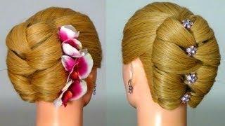 getlinkyoutube.com-Прическа для длинных волос на Новый год!  Hairstyle for New Year