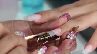 สาธิต วิธีต่อเล็บอะคริลิค สีธรรมชาติ โดย JIB : Acrylic Nails Tutorial