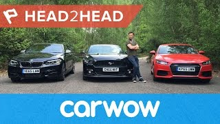 getlinkyoutube.com-Ford Mustang vs Audi TT vs BMW M235i Coupes 2017 review | Head2Head