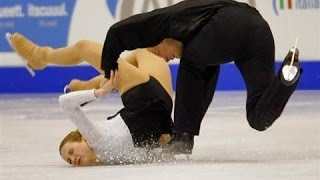 getlinkyoutube.com-Worst of Figure Skating Couple Falls