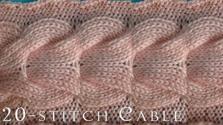getlinkyoutube.com-How-To  |  20-Stitch Cable  |  Knitting