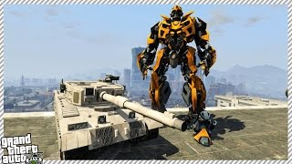 getlinkyoutube.com-🔹 TRANSFORMERS EVIL BUMBLEBEE ATTACKS THE CITY!! (GTA 5 GAMEPLAY)