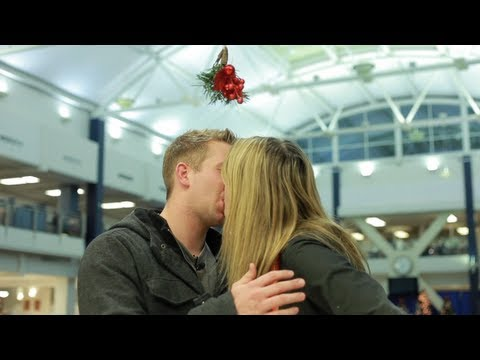 Mistletoe prank gone sexually
