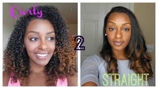 getlinkyoutube.com-Curly to Straight- Straightening Natural Hair